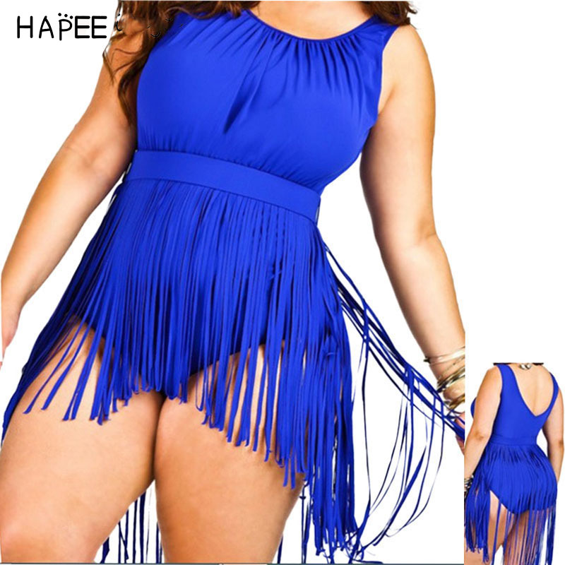 Women Long Fringe Swimsuit Beach Wear Sexy Plus Size Push Up Swimwear Tassel Padded One Piece Swimwear Large Size Bathing suit plus size swimwear one piece swimsuits sexy women push up padded bikinis floral beach bathing suits push up swim wear monokini