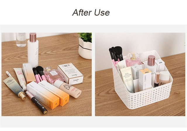 WBBOOMING Makeup Organizer Box For Cosmetics Desk Office Storage Skincare Case Lipstick Case Sundries Jewelry Organizer Box 4