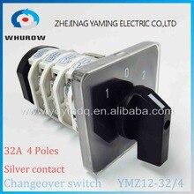 Поворотный переключатель ручку 3 Положение 1-0-2 ymz12-32/4 Универсальный электрическая Переход переключатель Cam 32a 690 В 4 фазы высокого качества
