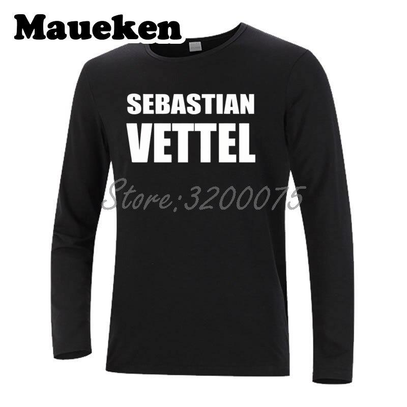 men driver sebastian vettel t shirt long sleeve tees t. Black Bedroom Furniture Sets. Home Design Ideas