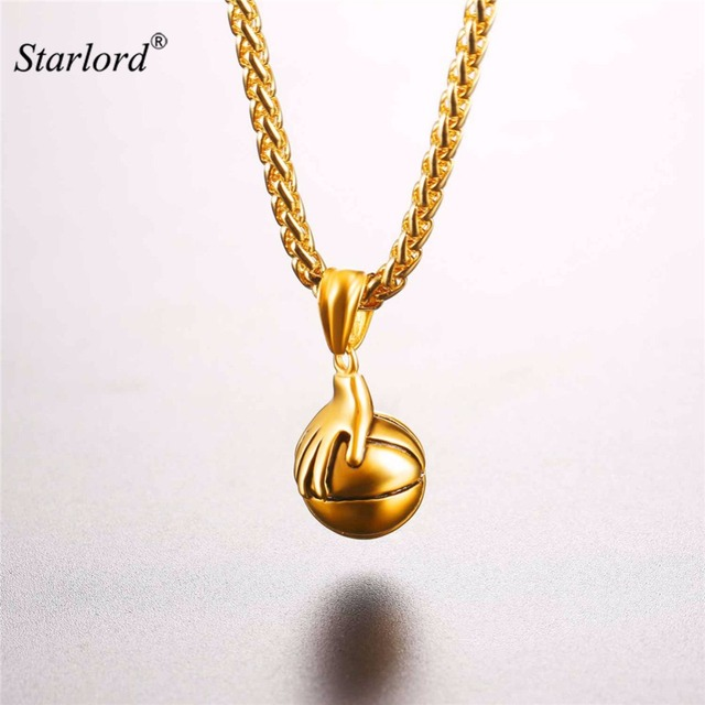 Starlord basketball pendants necklace bounce the ball design sports starlord basketball pendants necklace bounce the ball design sports fashion gold color stainless steel chain men mozeypictures Images