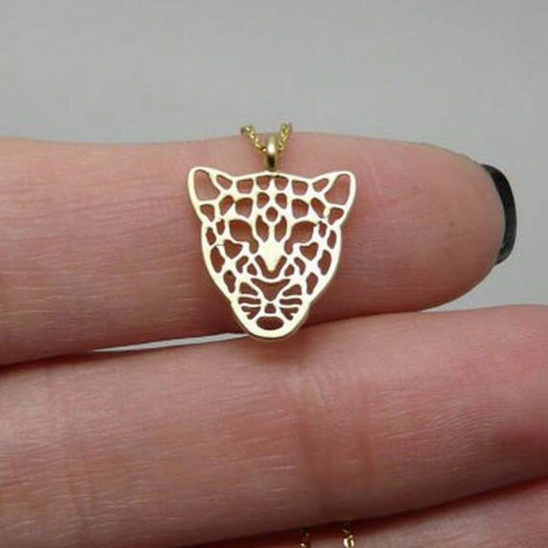 Hot Selling Gold Tiger Necklace Leopard Charm Animal