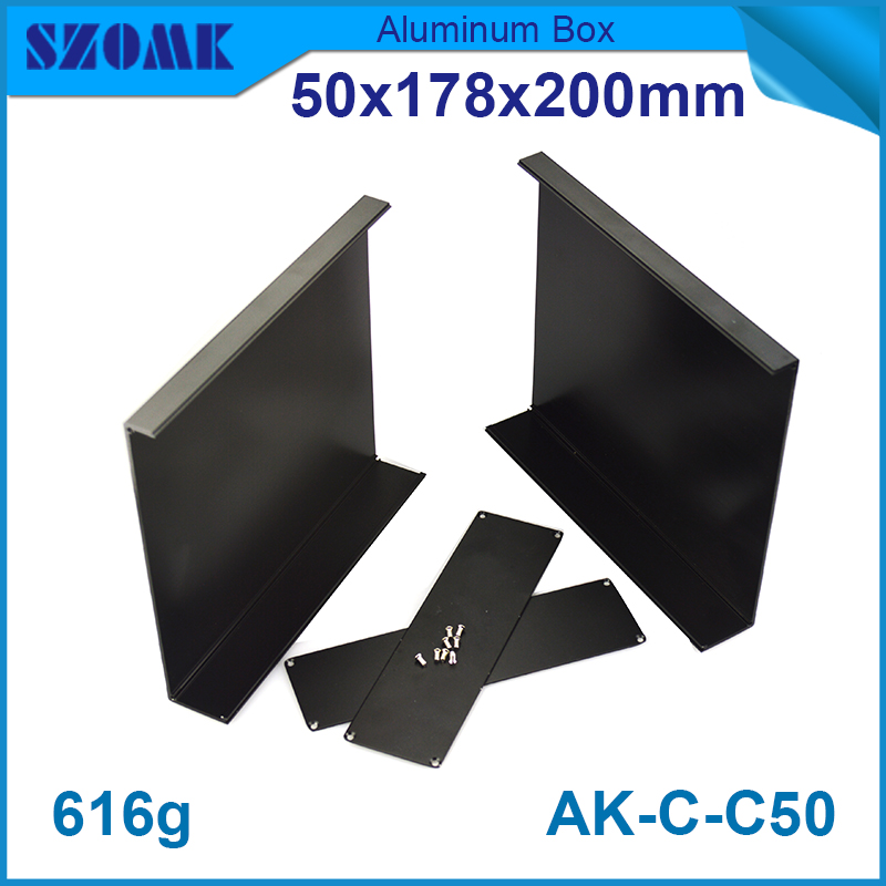 1 piece free shipping Black color aluminum anodizing junction housing case for electronics plastic project box 150mm 1 piece free shipping powder coating aluminium junction housing box for waterproof router case 81 h x126 w x196 l mm