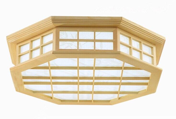 US $89.0 |Styl japoński kryty światełka sufitowe oświetleniowe Washitsu Tatami Decor Shoji lampa drewno i papier restauracja salon korytarz|living