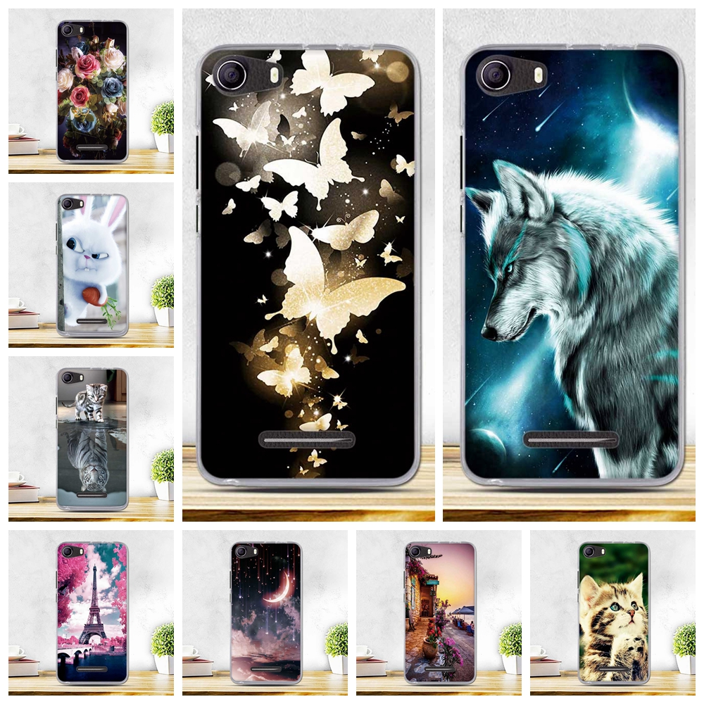 Soft Thin Silicone Cases For BQ 5065 BQ-5065 Choice Case Flowers paint Cover For BQ Choice BQS 5065 Cases Shell For BQ 5065