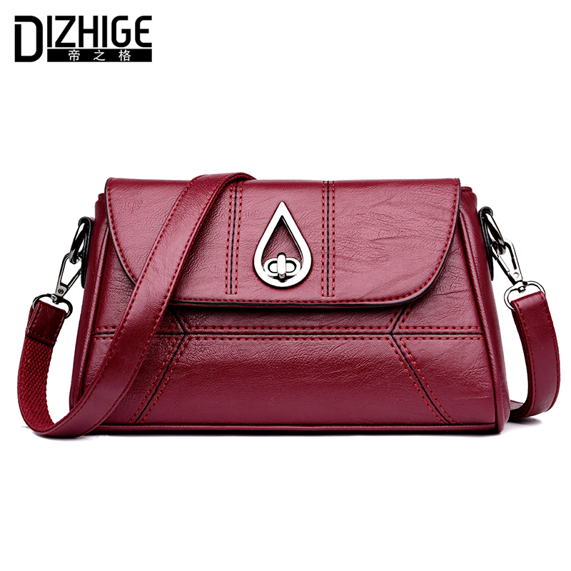 DIZHIGE Brand Fashion Water-drop Crossbody Bags Women Solid PU Leather Shoulder Bags Soft Women Handbags Ladies Messenger Bags forsining full calendar tourbillon auto mechanical mens watches top brand luxury wrist watch men erkek kol saati montre homme