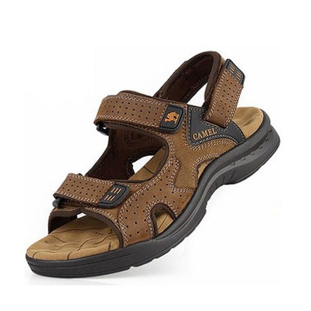 Новые 2016 мужские сандалии Из Натуральной кожи коровьей сандалии открытых случайные люди летние кожаные ботинки для мужчин