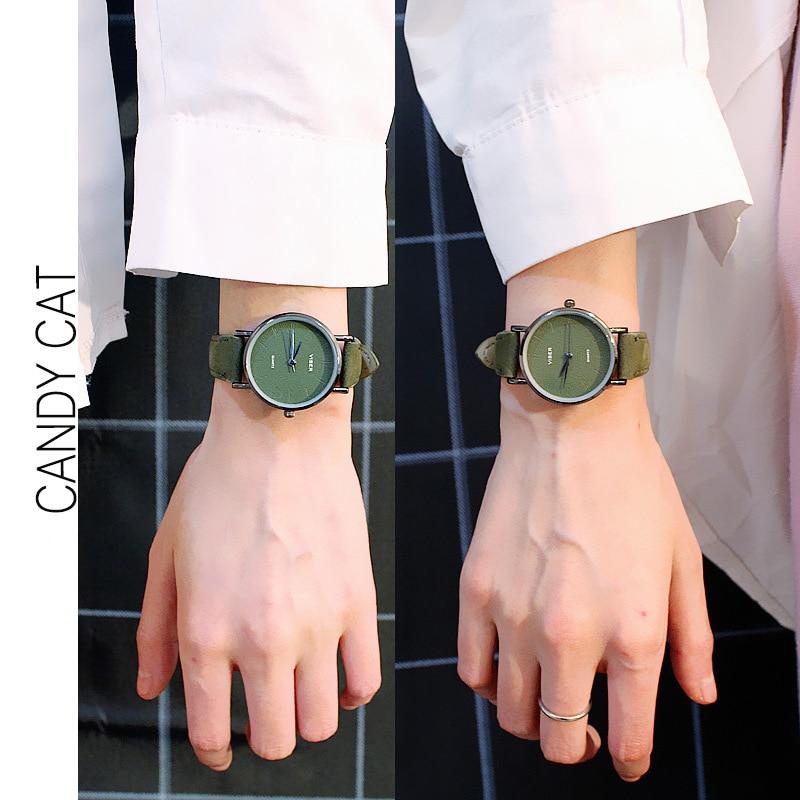 Chic Simple Lover's Watch Pair Clock Fashion Casual Men/Women Quartz Wristwatch Reloj Mujer Relogio Masculino Gift For Boyfriend