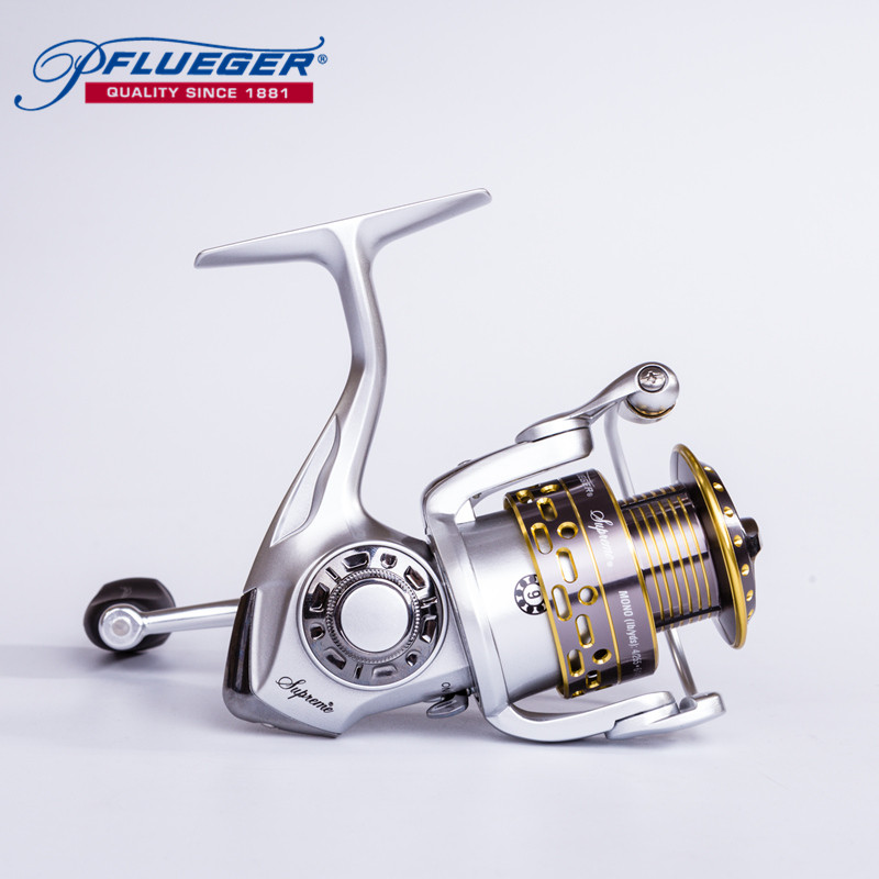 Pflueger SUPREME Fishing Spinning 7+1BB 4 Series Reel Left/Right Hand Pre-Loading Spinning Wheel Fishng Accessories Pesca Tool 3bb ball bearings left right interchangeable collapsible handle fishing spinning reel se200 5 2 1 with high tensile gear red