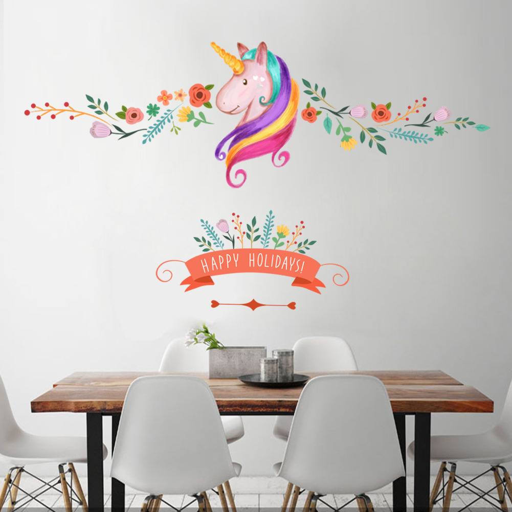 New Creative Horse Pattern Wall Stickers Girl Boy Children Bedroom Living Room TV Back Decoration