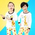 Kids Cotton Underwear Suit Giraffe Unisex Sleepwear Trousers Cartoon Suit Kids Pajamas Next Girl Clothing Style for 2-10 yrs