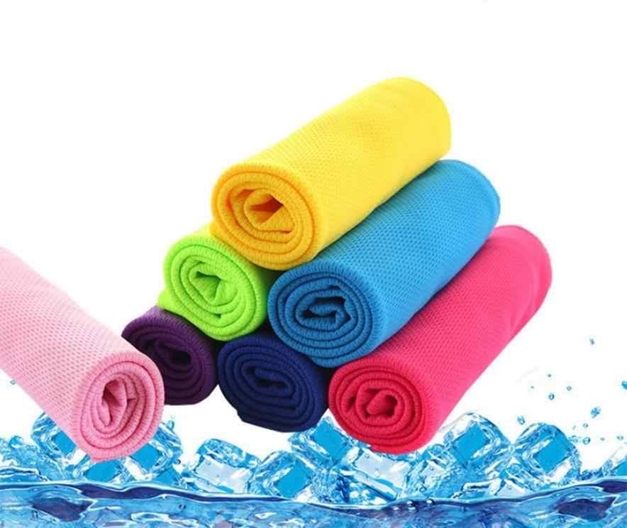 Холодное охлаждающее полотенце для ванны ощущение пляжное полотенце для путешествий плавающий коврик для йоги полотенце для сушки волос Спорт essuie основное сжатое полотенце