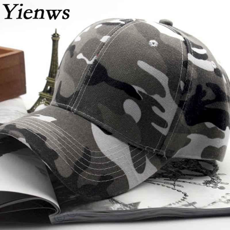 Prix pour Yienws Mode Hommes Baseball Chapeau Pour Homme Os Bord Courbe plein Cap Chapeau Armée Camo Chapeau De Camionneur D'été Papa Chapeaux YH237