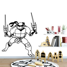 Cartoon Teenage Mutant Ninja Turtles Removable Vinyl Wall Stickers Poster Decor For Kids Rooms Decoration Vinyl Art Decal все цены