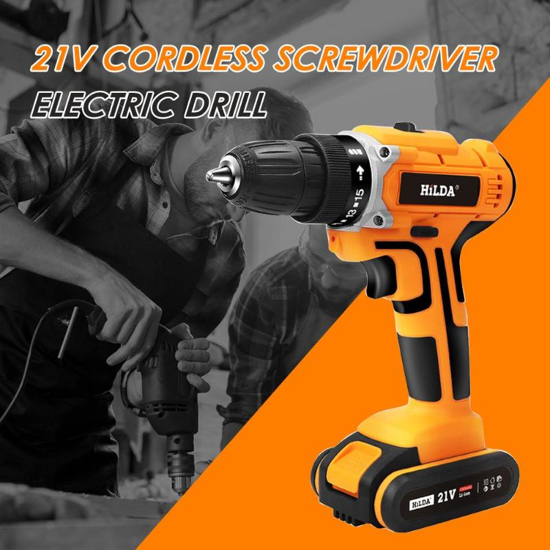 21V Electric Screwdriver Lithium Battery Rechargeable Multi-functional Cordless Electric Drill Power Tools Handheld21V Electric Screwdriver Lithium Battery Rechargeable Multi-functional Cordless Electric Drill Power Tools Handheld