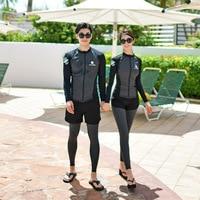 Surf Clothes Swimsuit For Women Sports Swimwear Female Guard Clothing Wear New Couple Men Three Piece Long Sleeve Sportswear