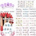 50 hoja/LOT Doraemon de Dibujos Animados de Diseño de Uñas pegatina pegatinas de transferencia de agua de Uñas accesorios de uñas de arte de uñas herramienta