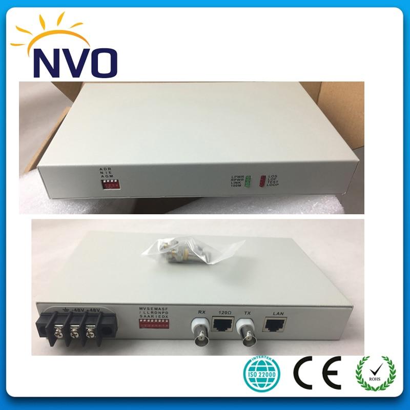1FE Ethernet To E1 Converter,2M Transparent Conversion, 10/100 Adaptive, VLAN, Desktop, AC220V Or 48V Power Adaptor,Euro Charger
