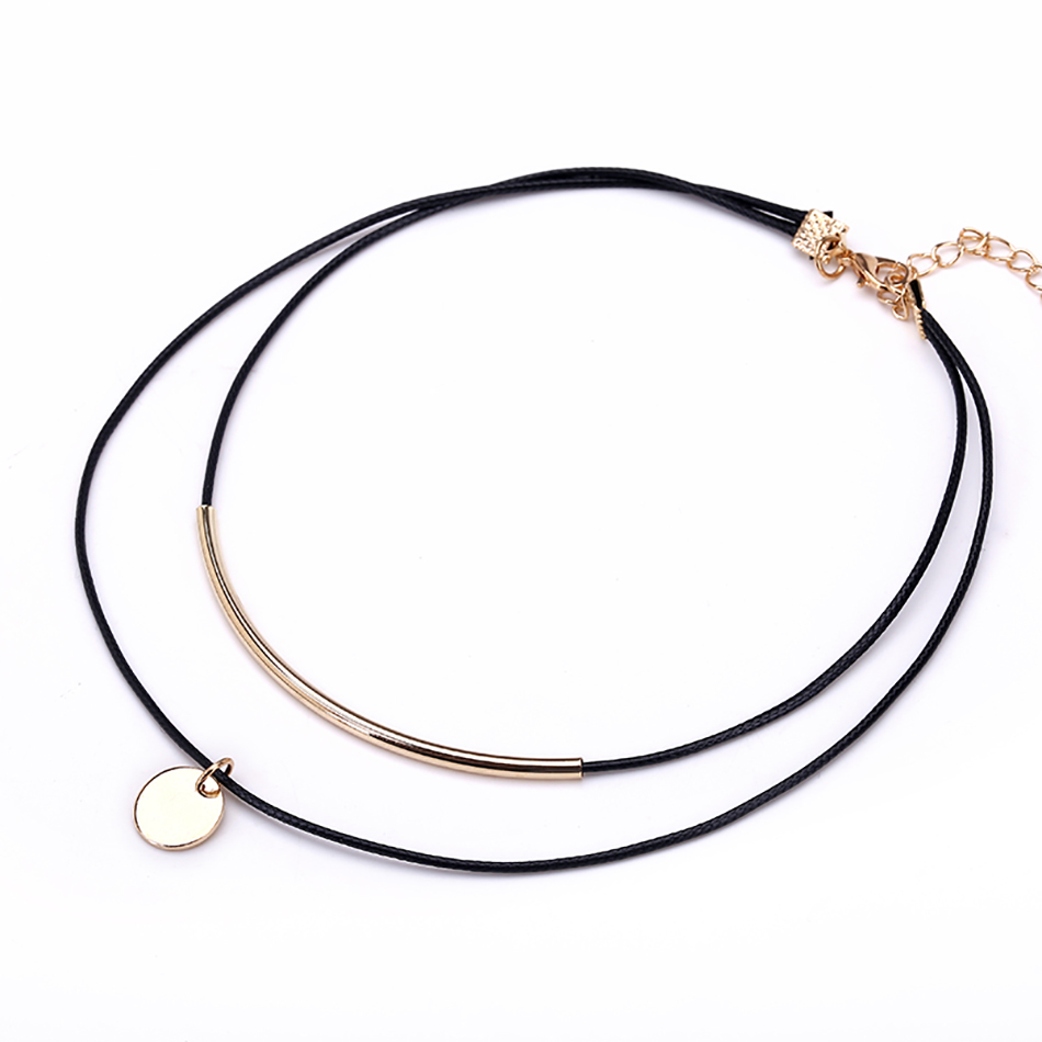 gold-coin-double-leather-choker-necklace-1