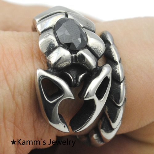 Insect Stone casting rings retro jewelry wholesale free shipping new men rings 2014 punk ring mens stainless steel ring KR301