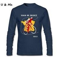 長袖フィットネスtシャツ男性サイクルトップスツールドフランス人格男性tシャツ服