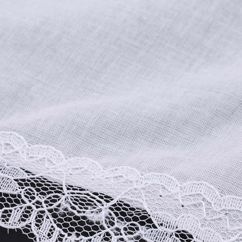 Creative New 12pcs Personalized White Lace Handkerchief Woman Wedding Gifts Wedding Decoration Cloth Napkins