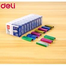 Os grampos coloridos deli 24/6 2400 pces grampos para o papel do grampeador que amarra estacionário