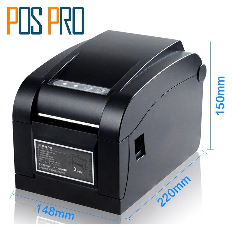 ITPP030 80 мм 3 дюймов Термальность Barcode Label Printer serial + USB + Ethernet Порты и разъёмы Compatiable ESC/POS