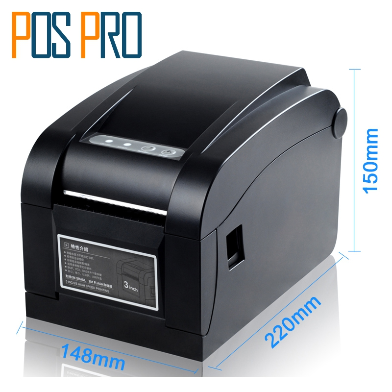 ITPP030 80mm 3 inch Thermal Barcode Label Printer Serial+USB+Ethernet Port Compatiable ESC/POS high quality usb port 127mm s thermal barcode printer rr code thermal barcode printer print width 20 80mm label printer