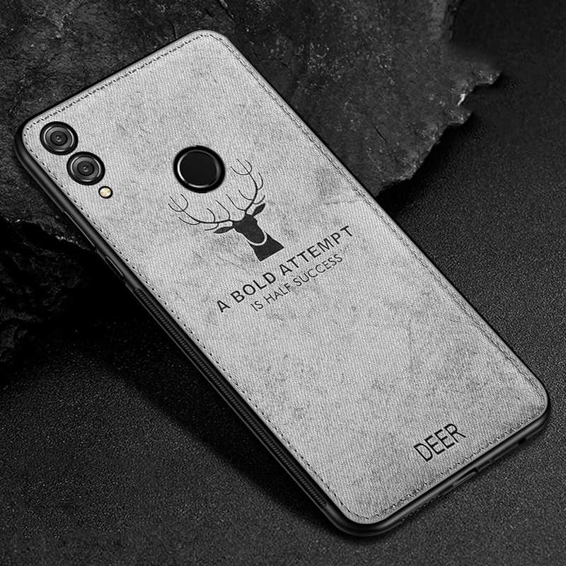 Fashion Deer Cover for Huawei P20 Lite P30 Pro Case Soft Canvas Mate 10 20 Honor V10 8X