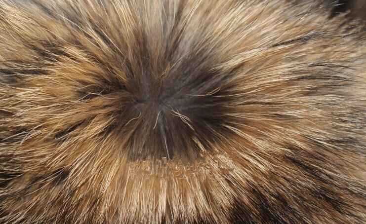 Peau de fourrure de raton laveur couleur naturelle pas cher