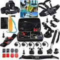 2016 Action Camera Promotion New Hard Bag Xiaomi Yi Basic Accessories Bundle Kit 29 In1 For Gopro Hero 4/black/silver 4/3+/3/2