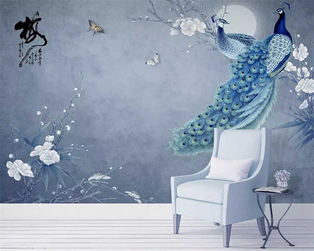 Пользовательские модные трехмерные новые китайские цветы с ручной росписью