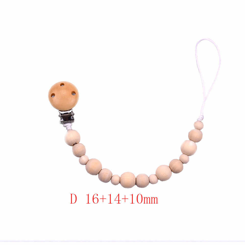 2018 New Arrival Hot Sale Baby Wood Beaded Pacifier Clip Dummy Chain Nipple Holder Infant Soother Teether For Infant Feeding@45