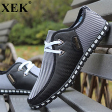 XEK Men Shoes New Arrival Breathable Light Flats Shoes Men Slip On Men Driving Shoes Trainers Vulcanized shoes ZLL49