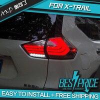 AKD Тюнинг автомобилей задние фонари для Nissan X Trail XTrail 2014 2016 задние фонари светодио дный светодиодные DRL ходовые огни Противотуманные фары анг