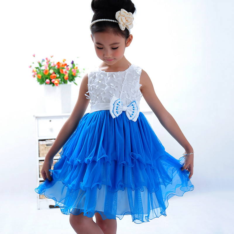 Summer Kids Dress for Girls Children Materity Dresses Baby Girls Sleeveless Princess Dress Flower Girl Prom Party Dresses 4-15Y baby girls summer cotton princess top quality kids sleeveless dress children wedding party clothes girl christmas prom dress
