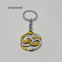 MF0855 The Never Ending Story Steampunk Vintage style two snake necklace pendant Keychain jewelry accessories