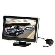 5 Pulgadas TFT Lcd Monitor de Visión Trasera Sistema + HD Cámara de Aparcamiento Inversa de Copia de seguridad