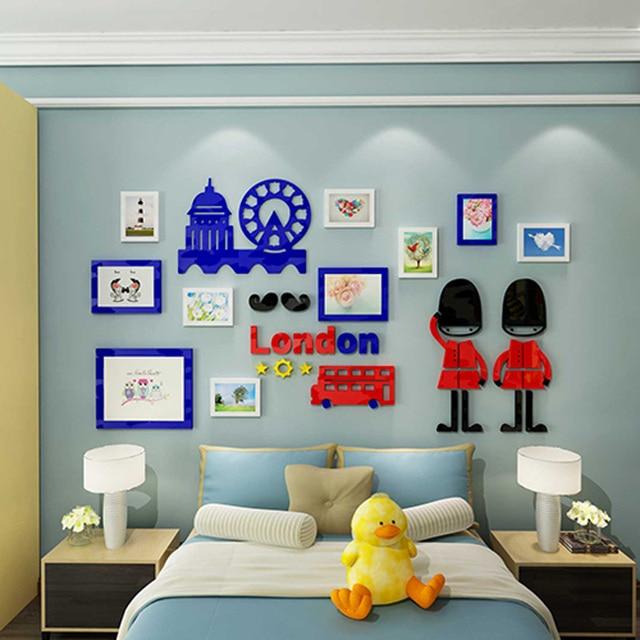 Britânico London Bonito Soldado Real Photo Frame Design Adesivo Acrílico  DIY Living Room Home Etiqueta Decoração