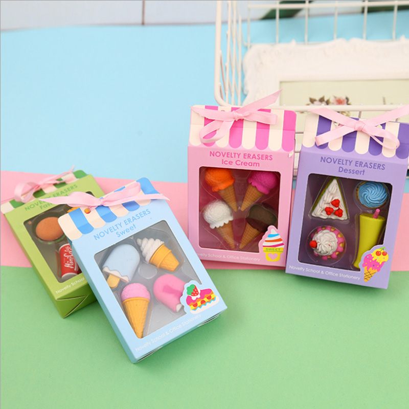 Creative Ice Cream Cake Eraser Gift Box For Children's Day