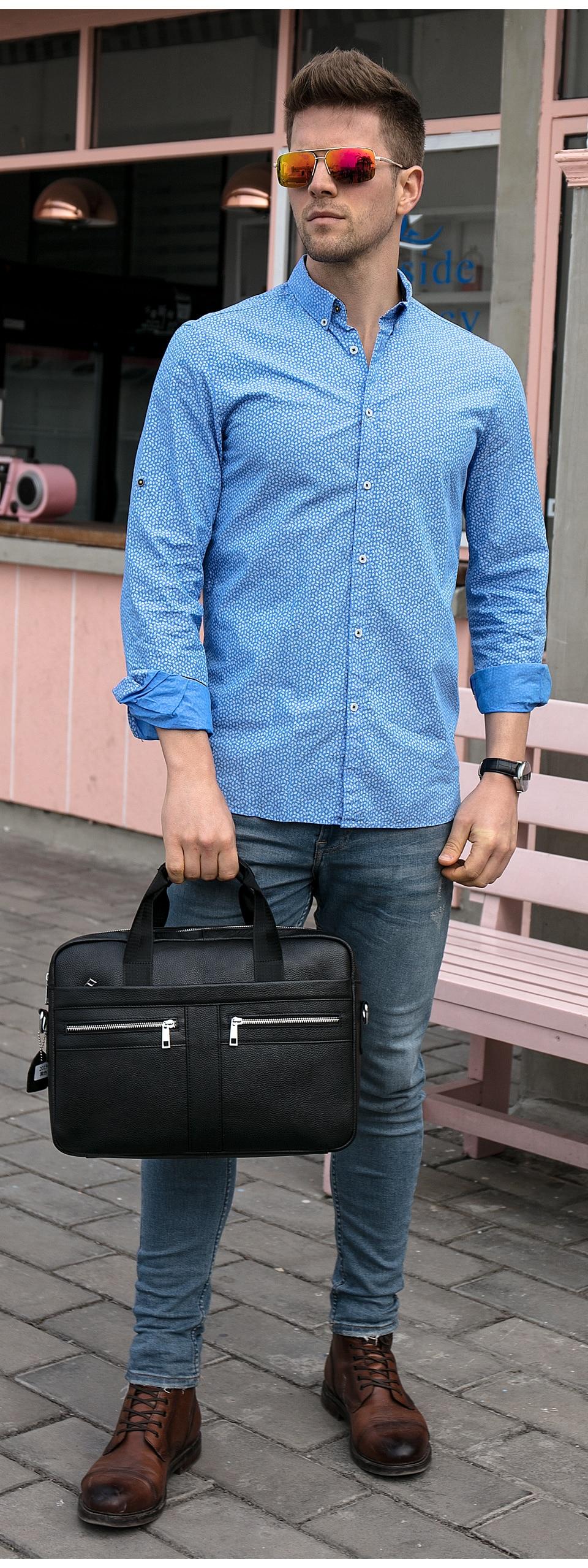HTB1ZQT6aPzuK1Rjy0Fpq6yEpFXab WESTAL Bag men's Genuine Leather briefcase Male man laptop bag natural Leather for men Messenger bags men's briefcases 2019