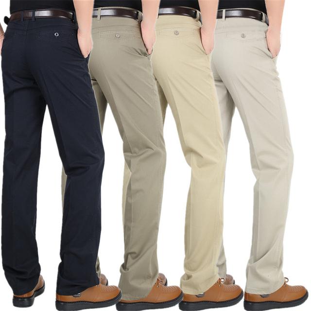 6 Cores de Verão Outono de Negócios de Moda Ou Estilo Casual Calças Dos Homens Magros Retas Calças Compridas Casuais Calças Dos Homens de Moda