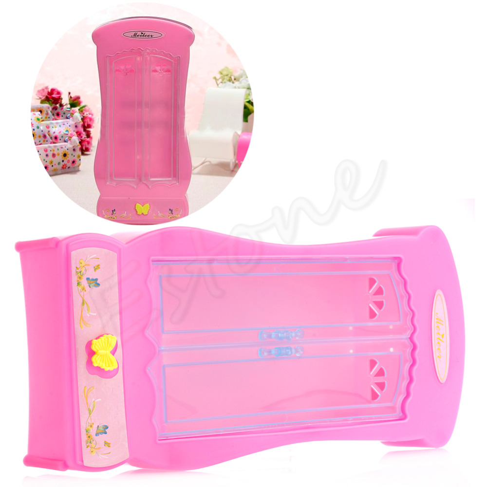 New Pink Closet Wardrobe ForBarbie Doll Girls Toy Princess Bedroom Furniture