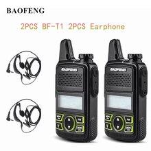 2 Stuks Baofeng BF T1 Mini Draagbare Twee Manier Radio BFT1 Uhf 400 470 Mhz 20CH Ham Fm Transceiver Walkie talkie Met Oortje
