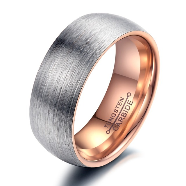 (Pack of 2) Brand Couple Rings Tungsten Steel Wedding Engagement Band Men Women Promise Jewelry Top Quality Never Fade,WJ247