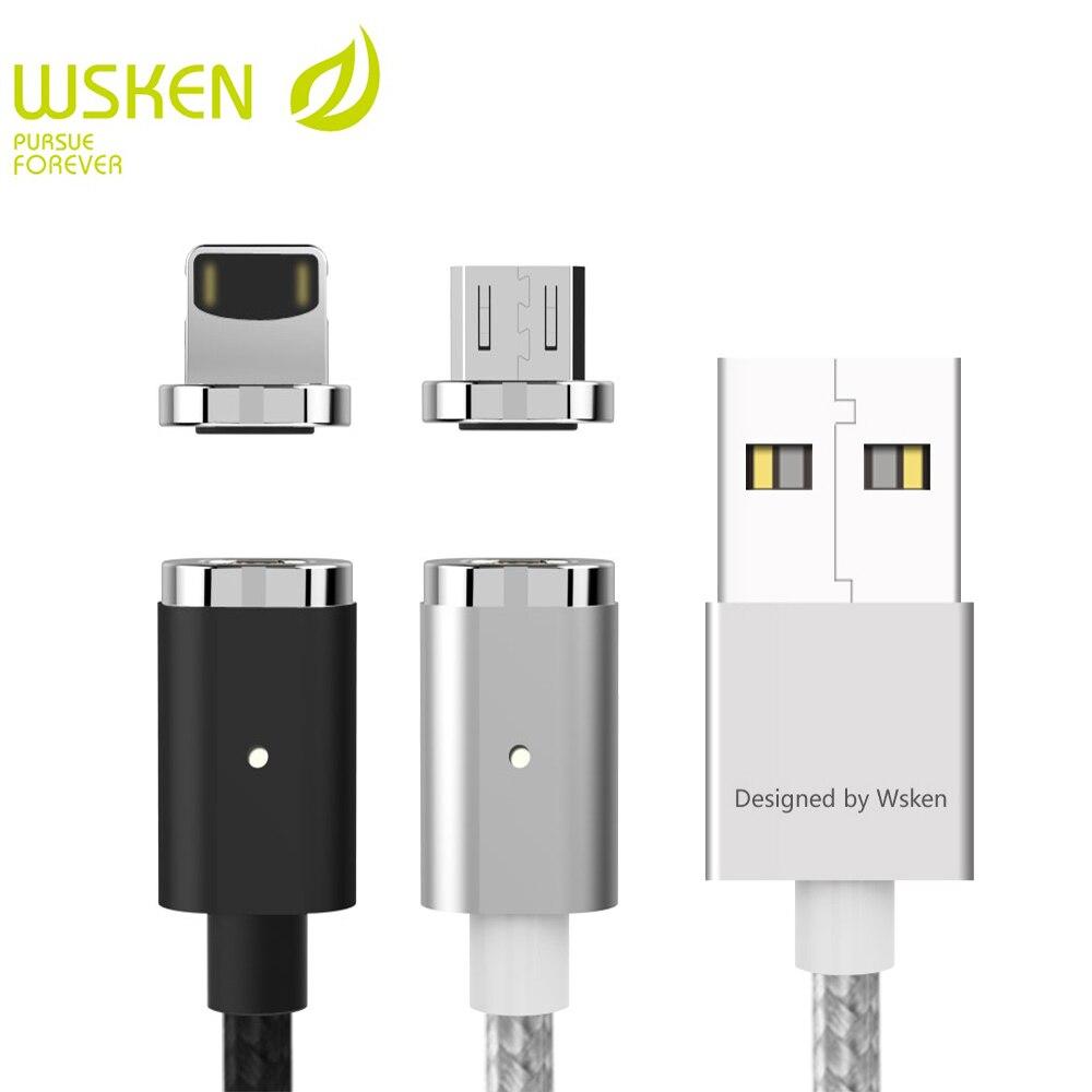 WSKENมินิ2แม่เหล็กไมโครสายUSBสำหรับS Amsung S7ไมโครอุปกรณ์USBแม่เหล็กชาร์จสายโทรศัพท์มือถือสำหรับip honeส...