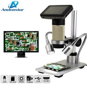 Image 2 - Andonstar ADSM201 HDMI إخراج المجهر الرقمي عدسة طويلة كائن المسافة لفحص المواد ، والإصلاح الإلكتروني
