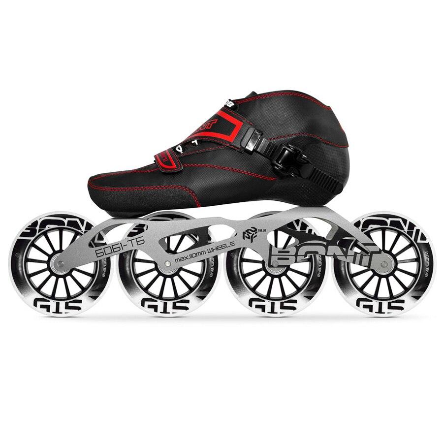 Original Bont Enduro 4*90/100/110mm G15 patins à roues alignées de vitesse professionnelle Patines de course en Fiber de carbone moulables enfants hommes adultes