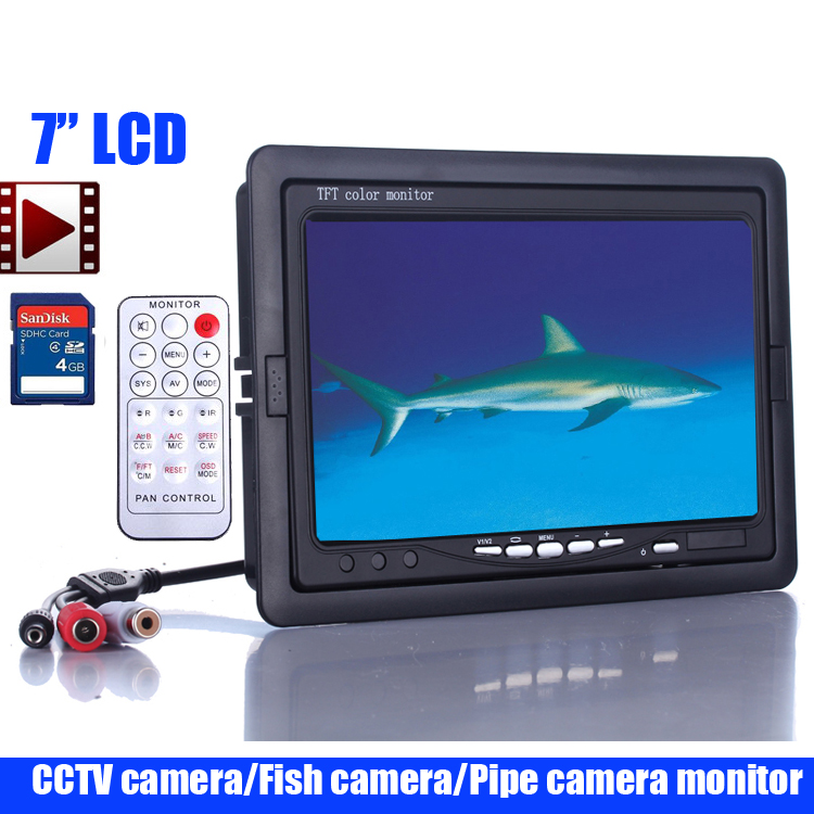 7 Inch Screen Monitor Display Displayer with Video Recording Function for the fish camera pipe camera cctv camera monitor7 Inch Screen Monitor Display Displayer with Video Recording Function for the fish camera pipe camera cctv camera monitor